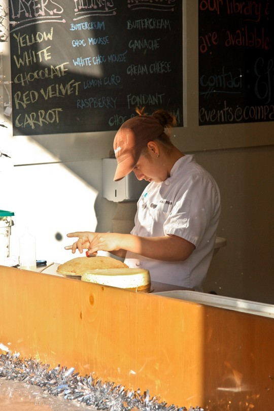 Pastry chef at work at Companion Bakehouse.