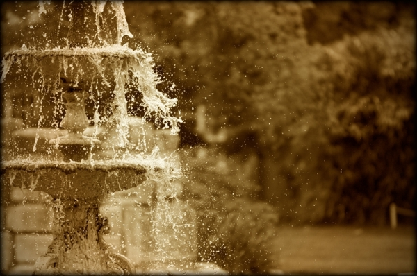 Victorian fountain in Tower Grove Park