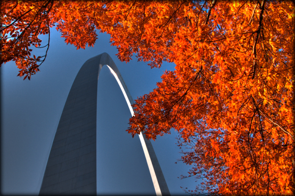 Autumn at the Gateway Arch