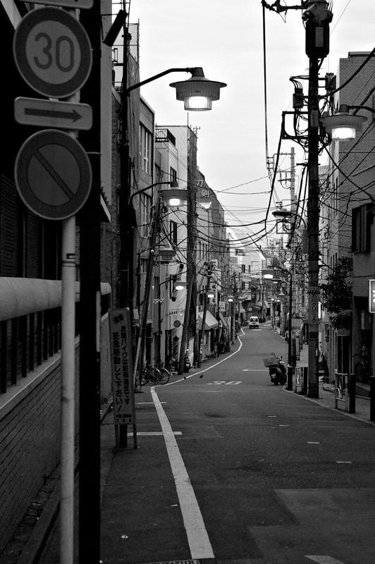 A narrow alley in Tokyo Japan.