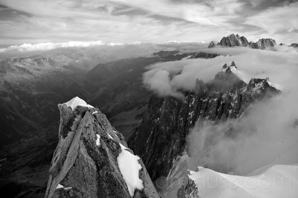 French alps above chamonix