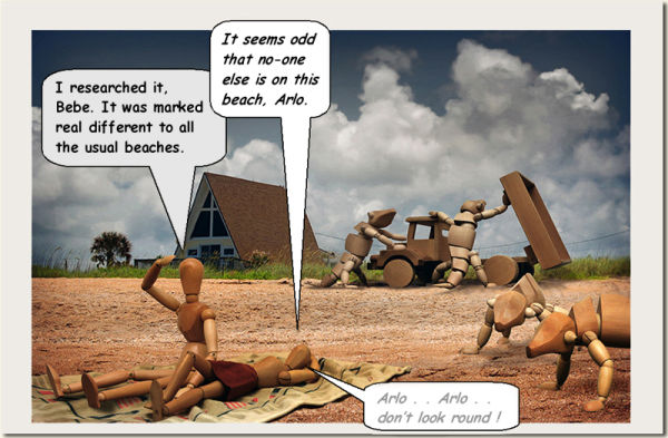 2¢ Sunday Comics :  #6,  ' Life's a Beach '