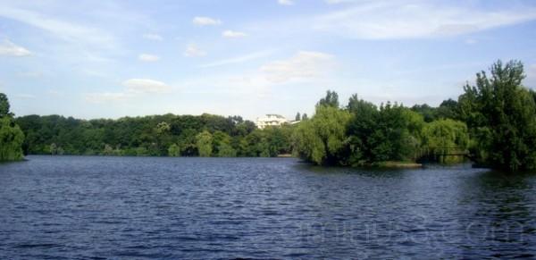 A lake...