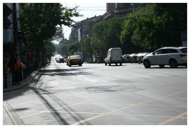 A boulevard from Bucharest