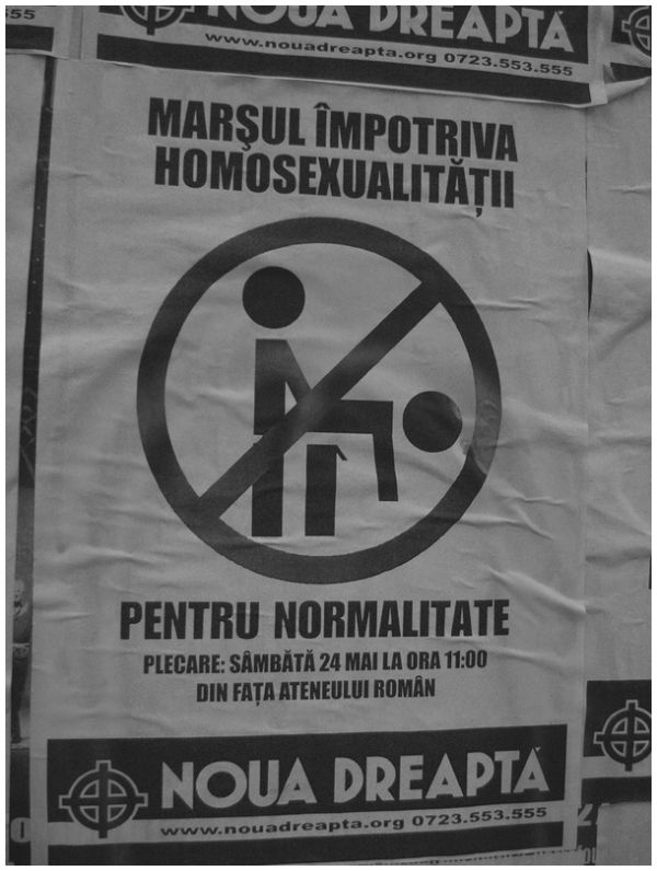 Poster for a march against homosexuality