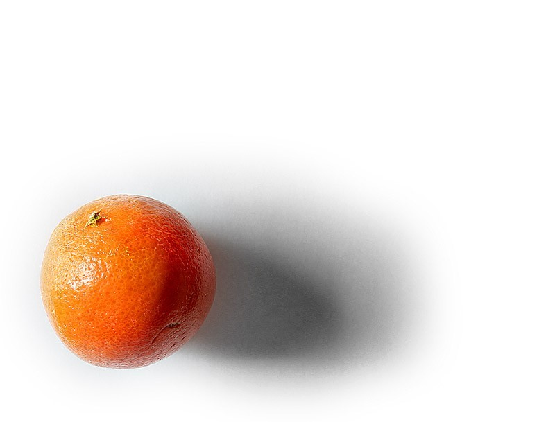 an orange clementine