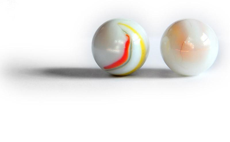 two marbles