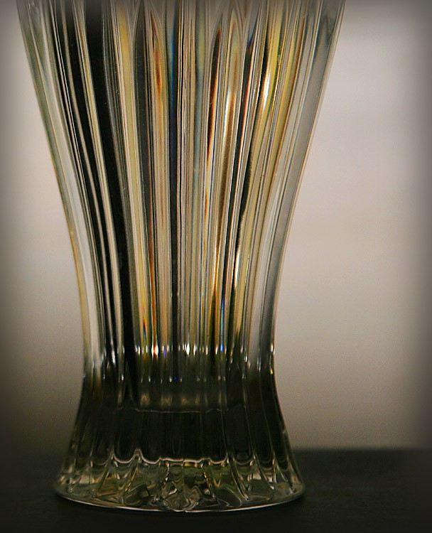 close up of a glass vase