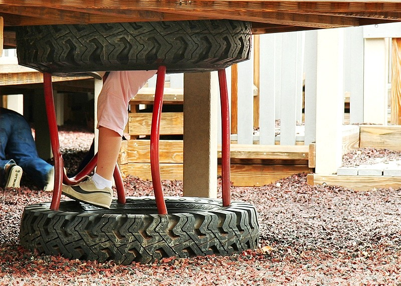 feet on a playground