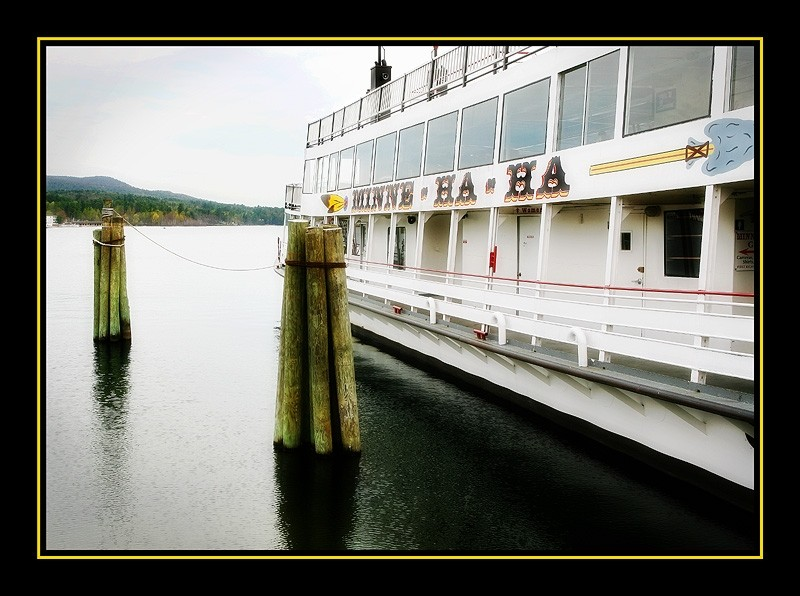 the Minnie Ha-Ha boat at Lake George