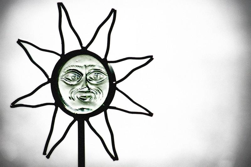 garden stake of the sun