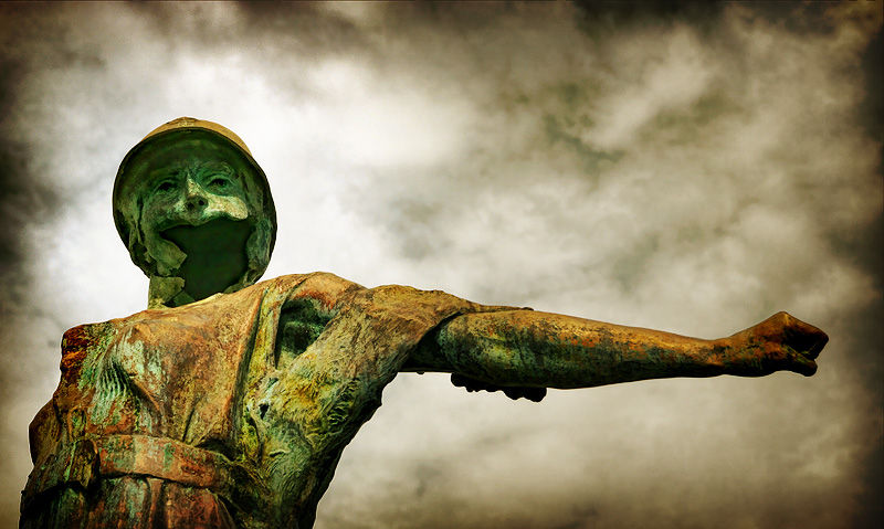 le monument aux morts, bedford virginia