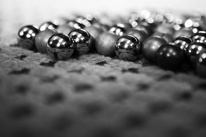 marbles in black and white