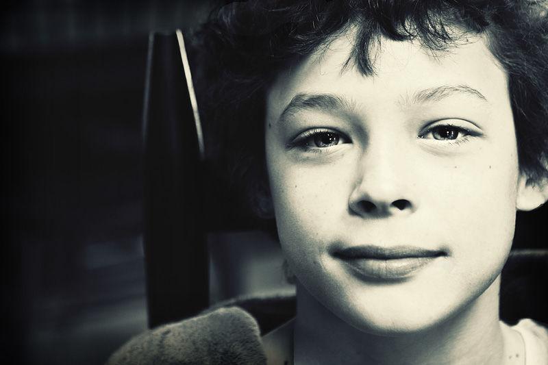 vintage portrait of boy