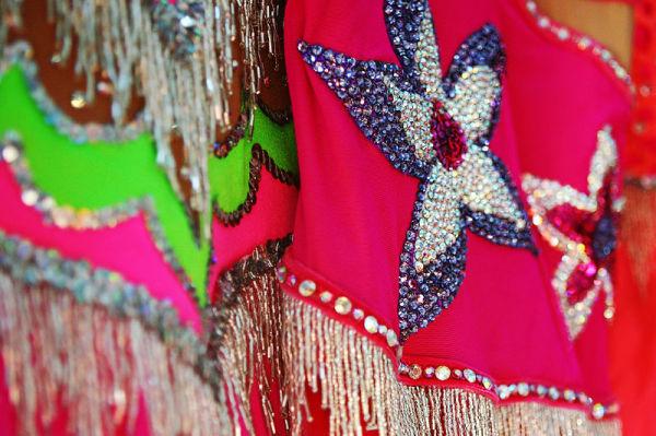 baton uniforms pink with sparkles