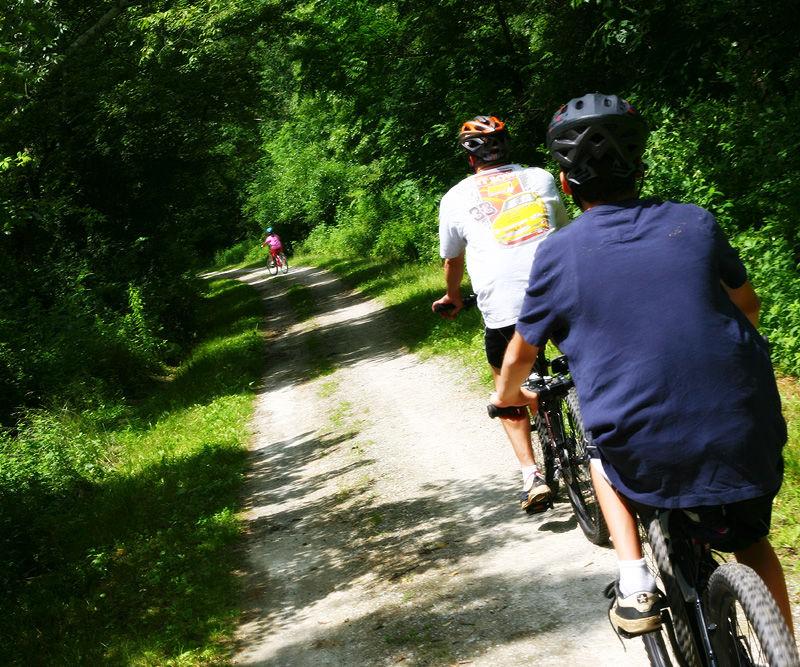 bike riding on a trail