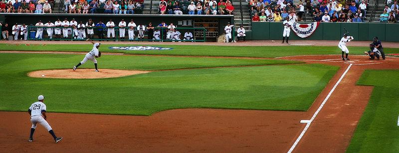 pitcher, batter, third baseman