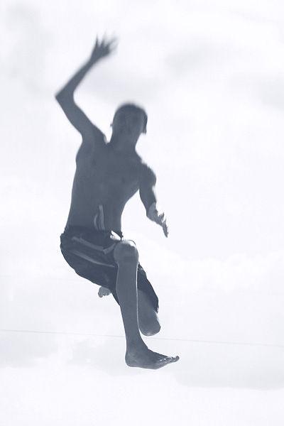 boy falling through air