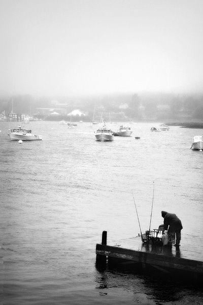 foggy day at Southwest Harbor