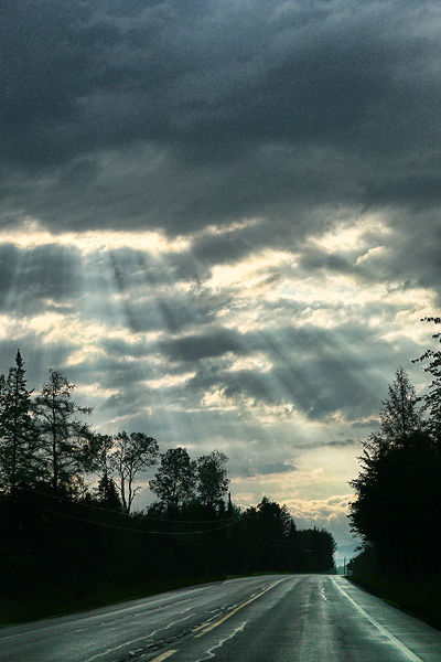 morning sun coming through clouds
