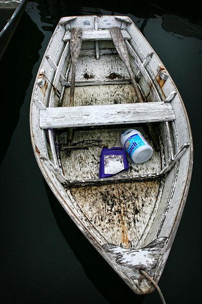 weathered fishing boat