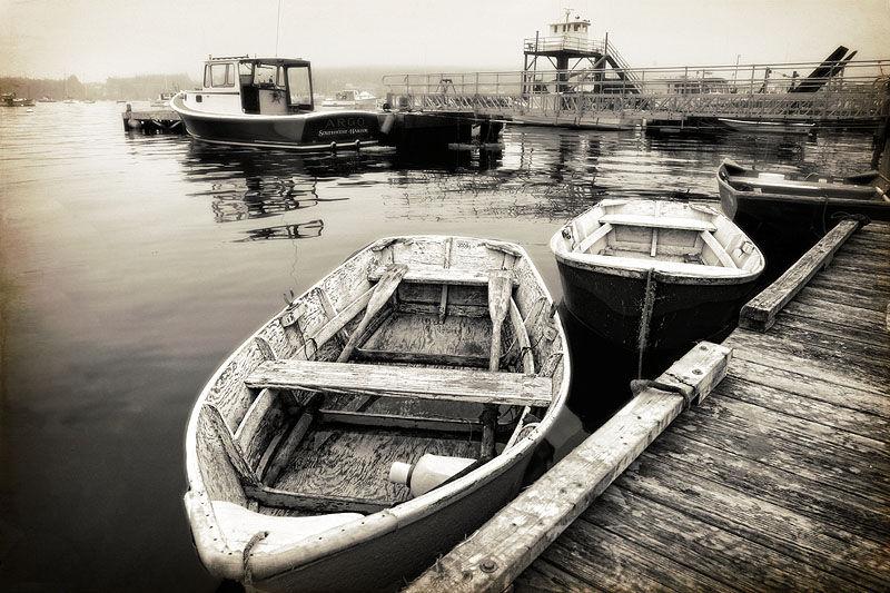 boats docked at Southwest Harbor, Maine