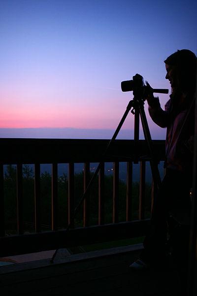 photographer taking sunrise shots