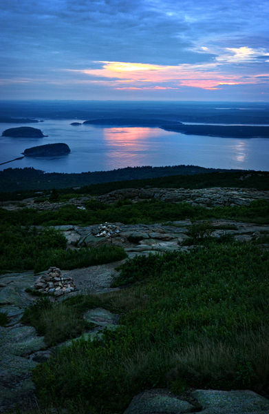 sunrise from cadillac mountain, maine