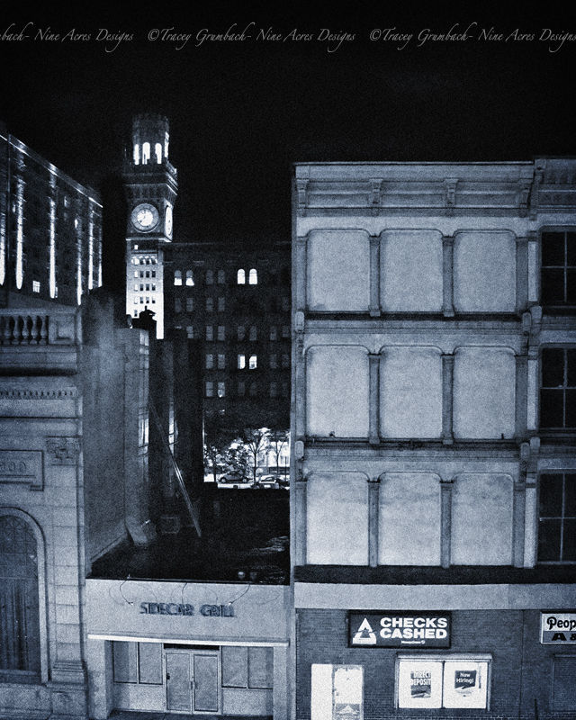view of bromo seltzer tower in Baltimore City