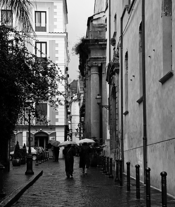 Sorrento in the rain