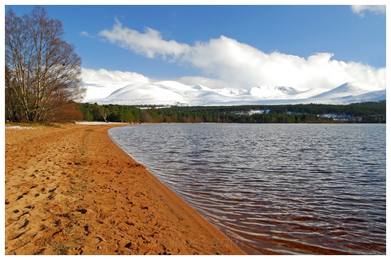 Cairngorm mountains and Loch Morlich