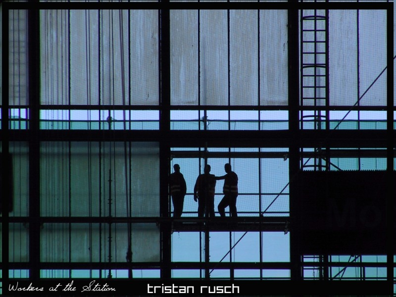 Workers at the Mainstation in Bremen