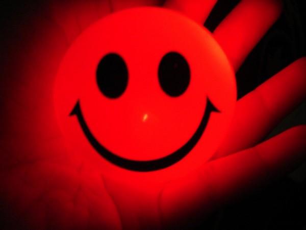 Glittering smiley.