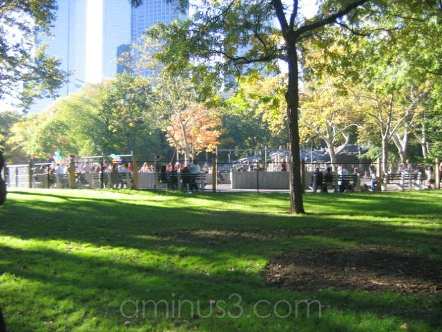 A shaded spot in Central Park, New York