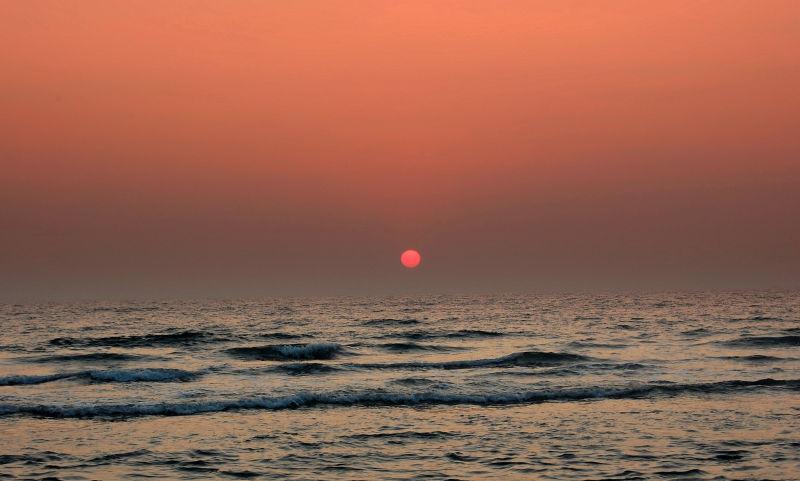 Kannur- Sunset in Arabian sea-3