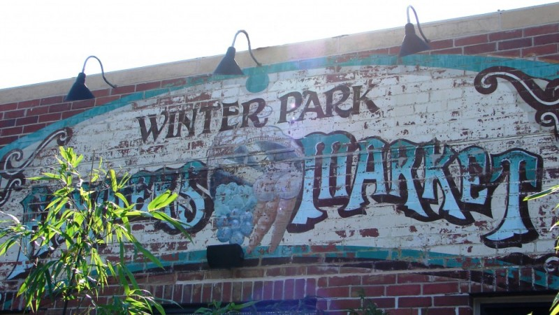 Winter Park Farmers Market Sign