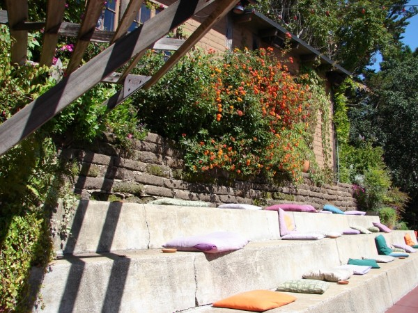 Sunny Pourch with pillow filled sitting area