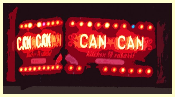 Can Can Kitchen & Caberet Sign in Seattle, WA