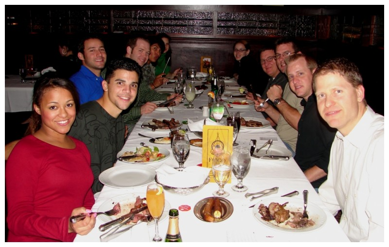 Friends Around the Table at Fogo de Chao