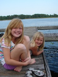 Jessica & Audrey on Lake Fredricka
