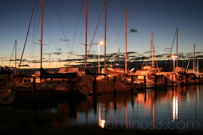 boats harbor sunset seaside