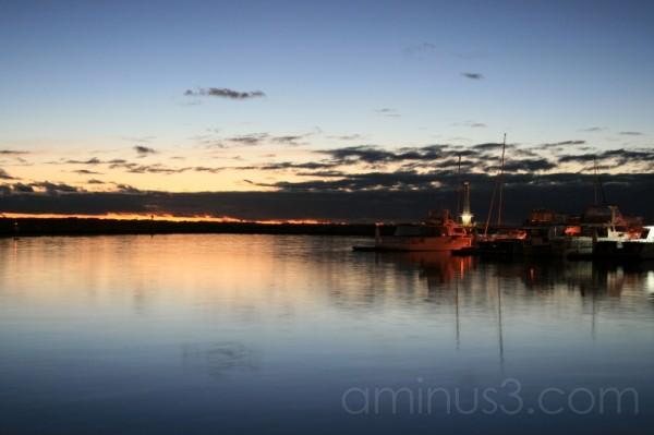boats harbor sunset seaside