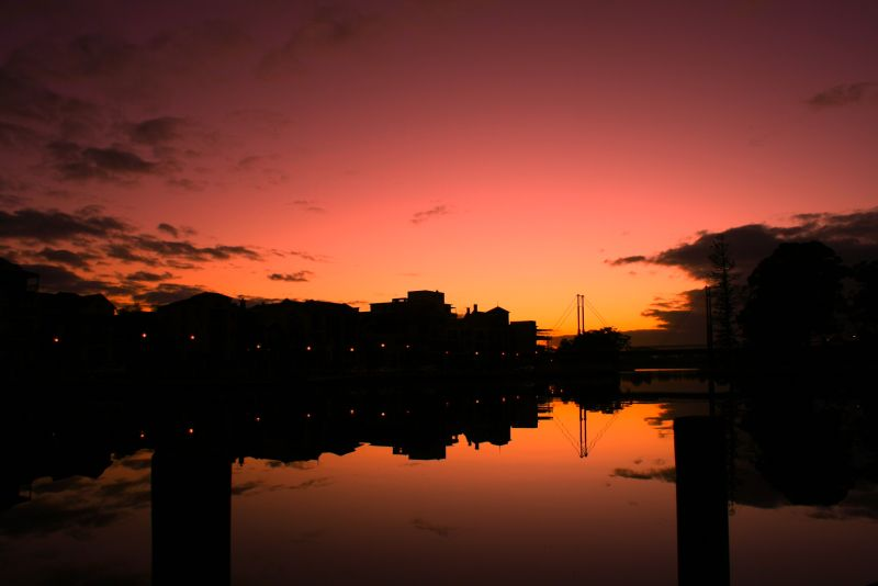The sunrise in East Perth just beautiful.