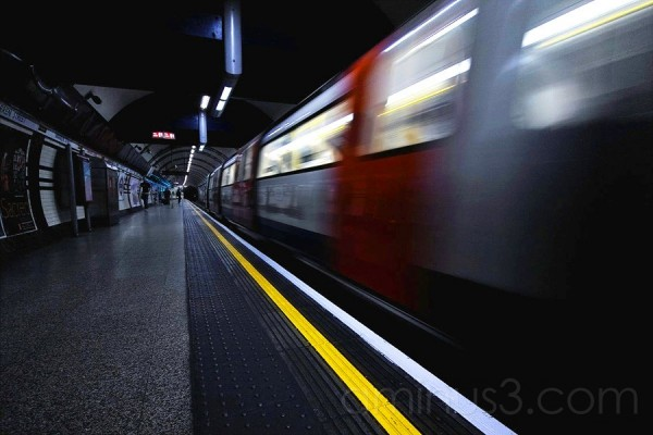 London Underground motion photograph