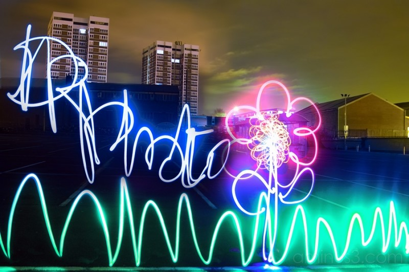 light graffiti logo