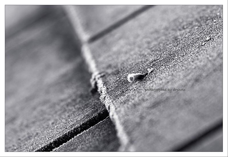 frozen roof tiles