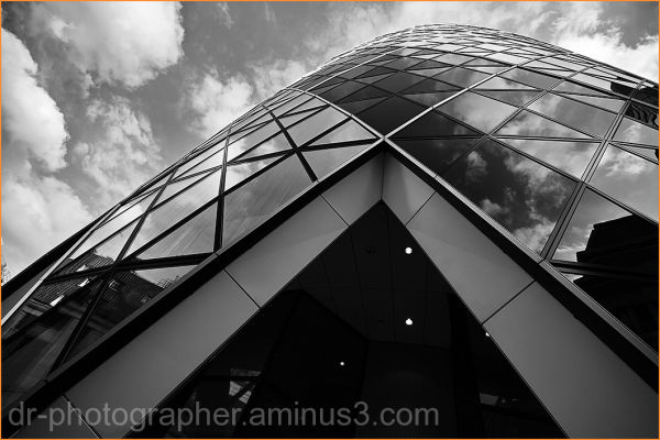 London's famous Gherkin abstract angle