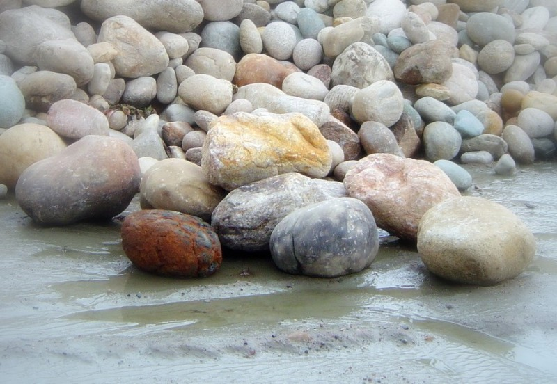 Pebbles by the beach