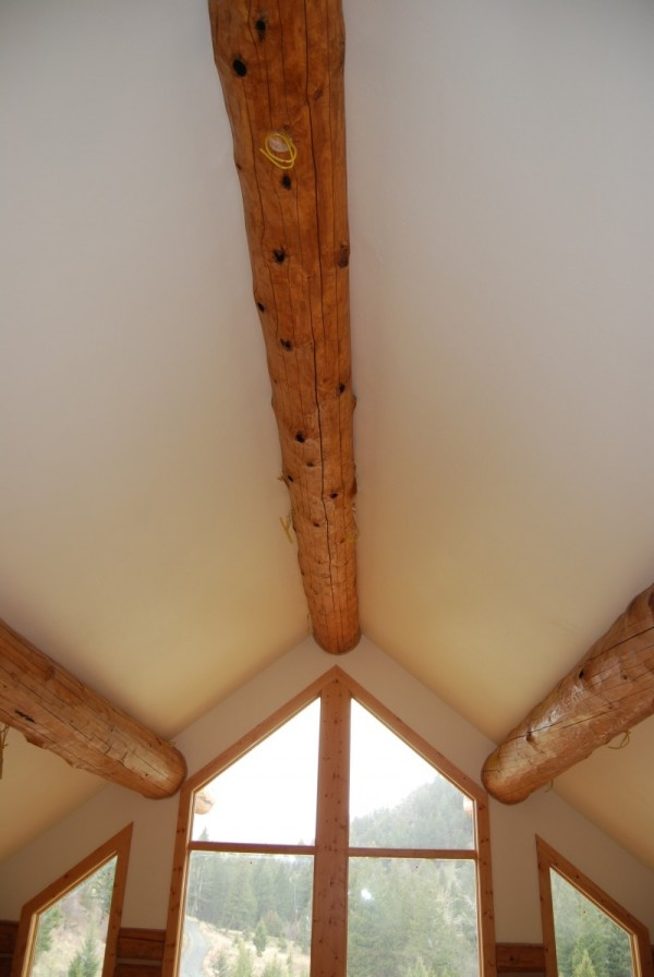 Nearly finished Log cabin ceiling