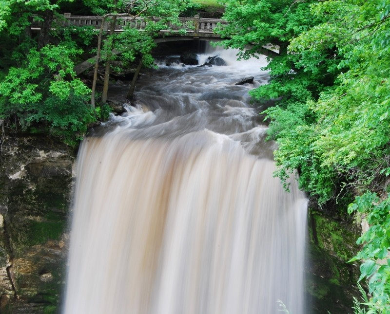 Long exposure image of a waterfall near home.
